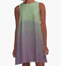 GREEN PURPLE HAZE A-Line Dress