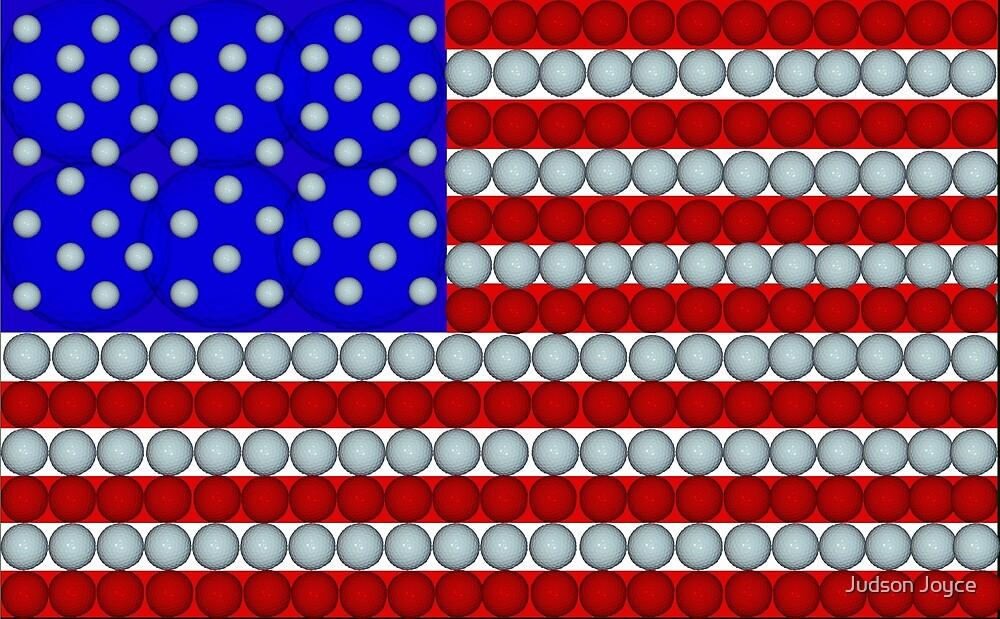 Golf Balls Flag by Judson Joyce