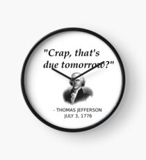 Funny Thomas Jefferson Independence Day USA History Clock