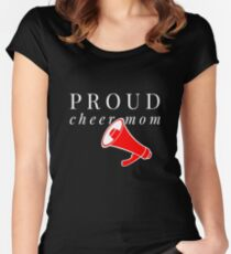 Proud Cheer Mom Women's Fitted Scoop T-Shirt