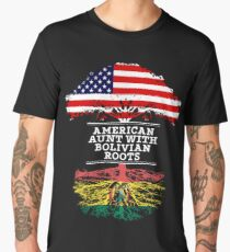American Aunt With Bolivian Roots - Gift For Bolivian Aunties Men's Premium T-Shirt