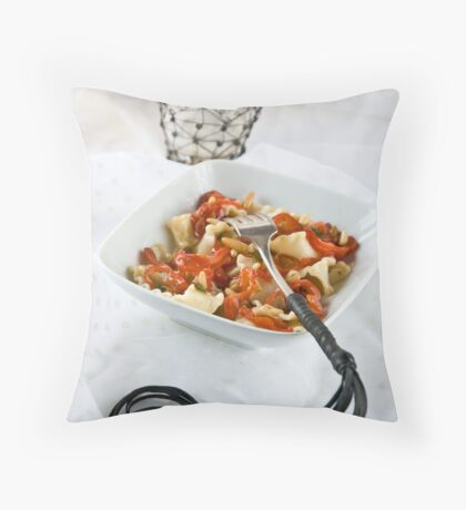 Pasta with a sting Throw Pillow