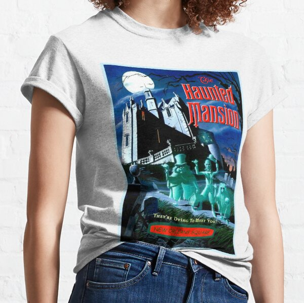 HAUNTED MANSION : Vintage Ghosts Advertising Print Classic T-Shirt