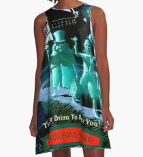 HAUNTED MANSION : Vintage Ghosts Advertising Print A-Line Dress