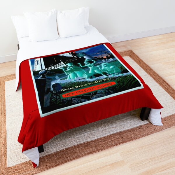 HAUNTED MANSION : Vintage Ghosts Advertising Print Comforter