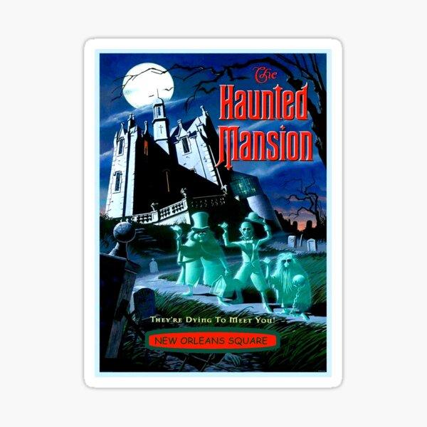 HAUNTED MANSION : Vintage Ghosts Advertising Print Sticker