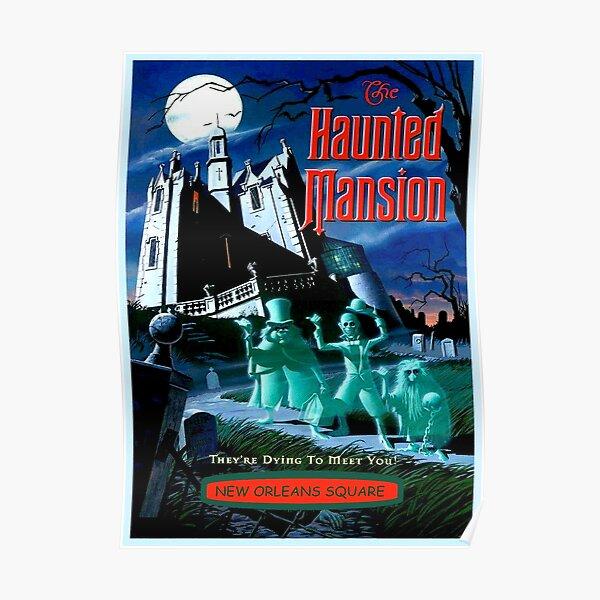 Vintage Disneyland Poster Phantom Manor Disney Wall Decor Print Gift UNFRAMED