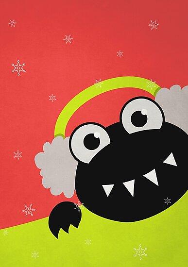 Cute Winter Bug With Earmuffs by Boriana Giormova