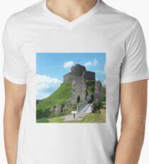 Launceston Castle -Cornwall UK  Men's V-Neck T-Shirt