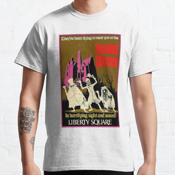 HAUNTED MANSION : Vintage Liberty Square Advertising Print Classic T-Shirt