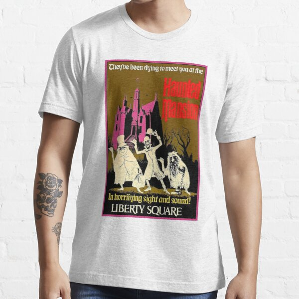 HAUNTED MANSION : Vintage Liberty Square Advertising Print Essential T-Shirt
