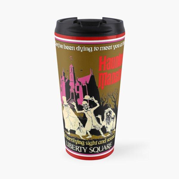 HAUNTED MANSION : Vintage Liberty Square Advertising Print Travel Mug
