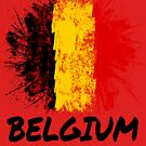 Belgium Soccer Jersey Shirt Flag by 7United