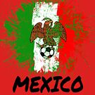 Mexico Soccer Jersey Shirt Flag by 7United