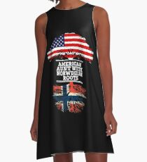 American Aunt With Norwegian Roots - Gift For Norwegian Aunties A-Line Dress