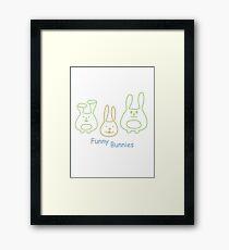 Funny Bunnies Framed Print