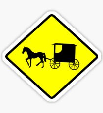 Amish Crossing Sign Sticker