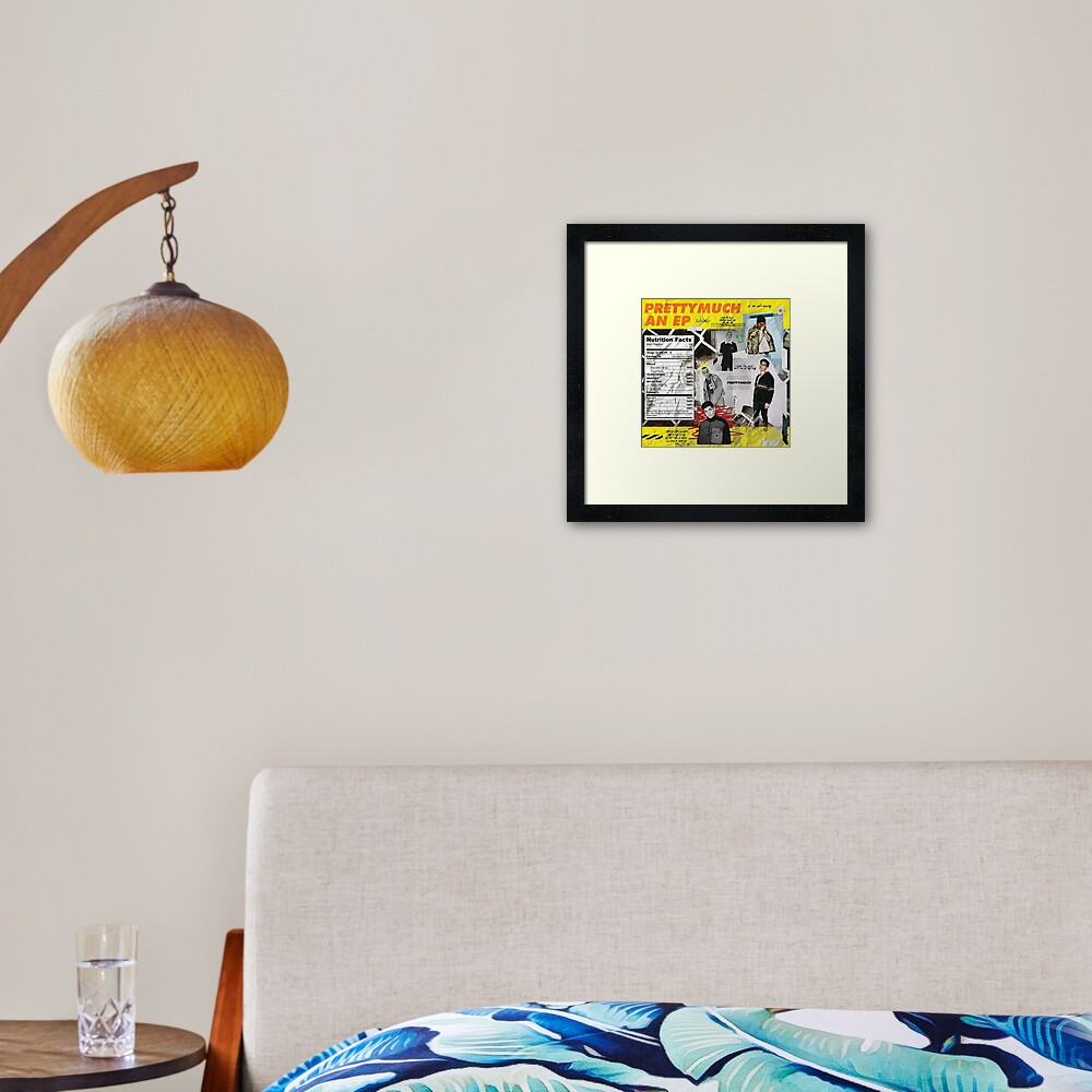 prettymuch ep cover Framed Art Print