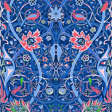 William Morris Inspired Blue Pattern by Greenbaby