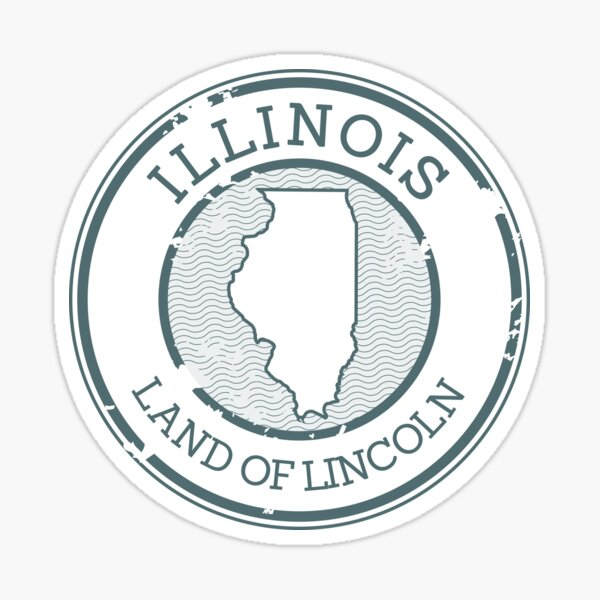 Illinois - Land of Lincoln (Stamp) Sticker
