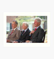 Three US Presidents Bush,Carter,Clinton  Art Print