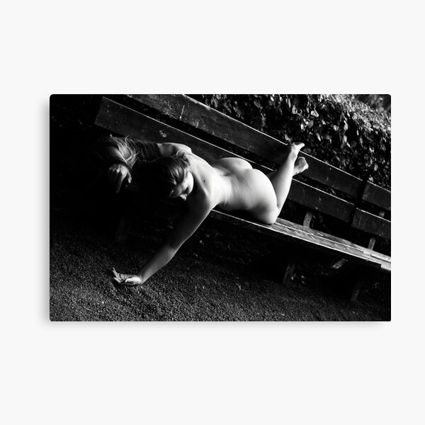 Muse on a Park Bench Four Canvas Print