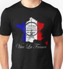 Bastille-Tag Vive La Frankreich, La Fete Nationale Vive La Frankreich Liberte, Egalite, Fraternite-Hemd Slim Fit T-Shirt