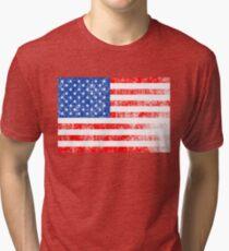 Patriotic American Flag Independence Day Artwork Tri-blend T-Shirt