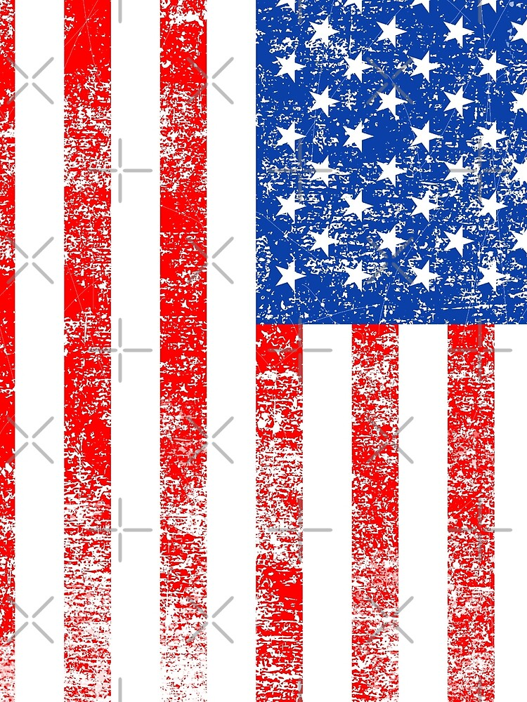 Patriotic American Flag Independence Day Artwork by IcArtsyOrigin8