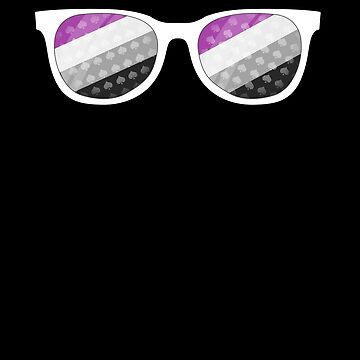 Asexual Pride Sunglasses Shirt - Subtle ACE Flag Colors by 14thFloor