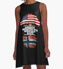 American Daughter With Norwegian Roots - Gift For Norwegian Daughters A-Line Dress