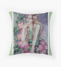 Wild rose fairy tote bag Throw Pillow