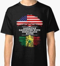 American Daughter With Senegalese Roots - Gift For Senegalese Daughters Classic T-Shirt