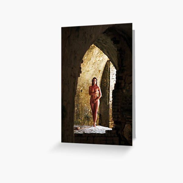 Alone in the ruins Greeting Card