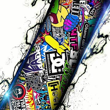 Sticker Bomb JDM Stickerbomb by IainW98