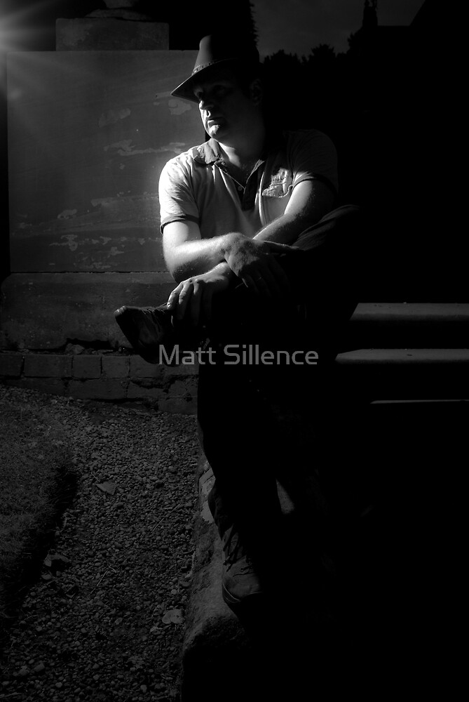 a lone man by Matt Sillence