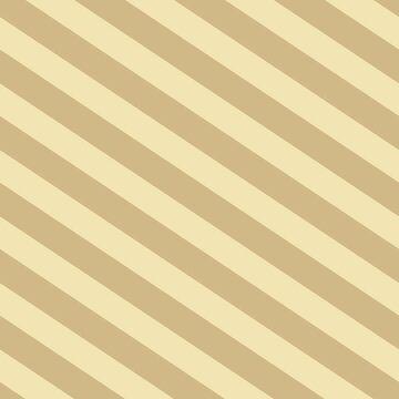 Beige Stripe - Diagonal by ElysiumDesign