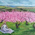 Among the blooming peach trees by Anthropolog