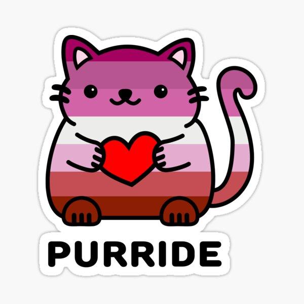 Purride - Lesbian Pride Flag Kitty Sticker