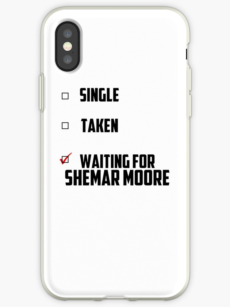 reputable site 690c6 1318b 'Waiting For Shemar Moore' iPhone Case by NessaElanesse