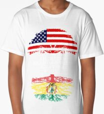 American Grandad With Bolivian Roots - Gift For Bolivian Grandpa Long T-Shirt