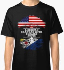 American Grandad With Bonaire Roots - Gift For Bonaire Grandpa Classic T-Shirt