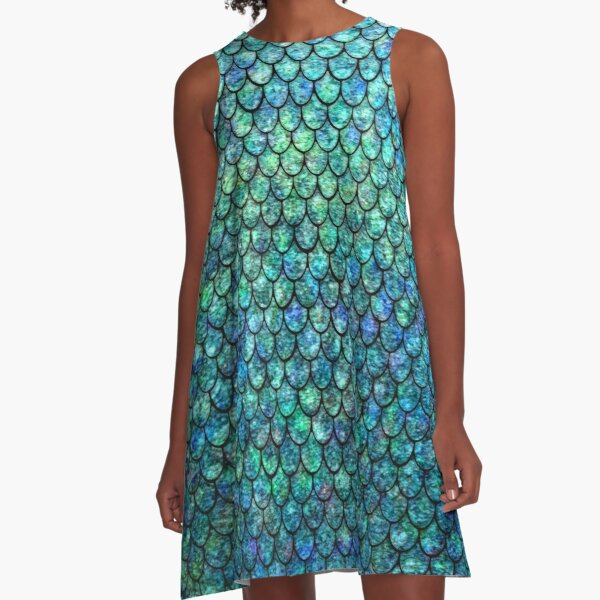 Mermaid Scales A-Line Dress