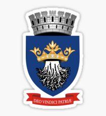 Coat of Arms of Brașov, Romania Sticker