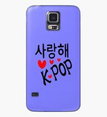 I LOVE KPOP in Korean language txt hearts vector art  Case/Skin for Samsung Galaxy