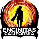 Surfing ENCINITAS California Surf Surfer Surfboard Waves Ocean Beach Vacation by MyHandmadeSigns