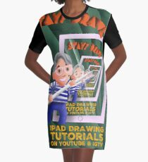 Stayf Draws Art Deco Poster Graphic T-Shirt Dress