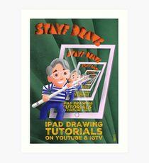Stayf Draws Art Deco Poster Art Print