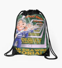 Stayf Draws Art Deco Poster Drawstring Bag