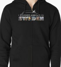 I Studied Abroad in Sweden Zipped Hoodie